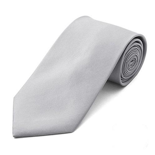 Lord R Colton Inca Silver Satin Silk Necktie