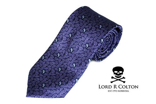 Lord R Colton Studio Amethyst Micro Paisley Woven Necktie