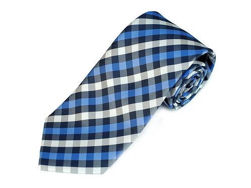 Lord R Colton Studio Blue White Check Necktie