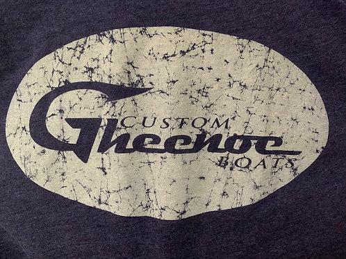 Custom Gheenoe Gray Splatter Logo L/S Tee