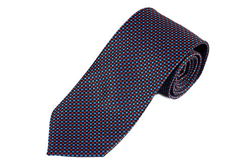 Lord R Colton Ruby Sapphire Navy Dobby Necktie