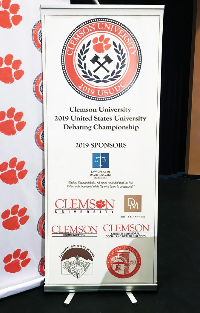 The Law Office of David L. Savage Sponsors Clemson University US Debate Championship