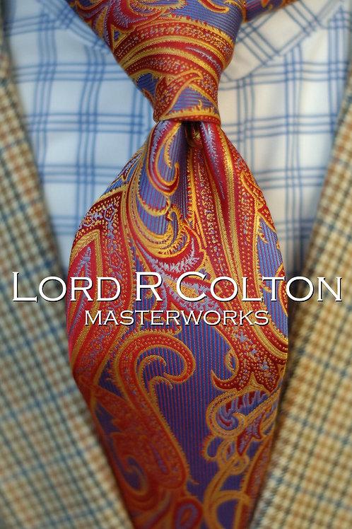 Lord R Colton Masterworks Sahara Fire Paisley Woven Necktie