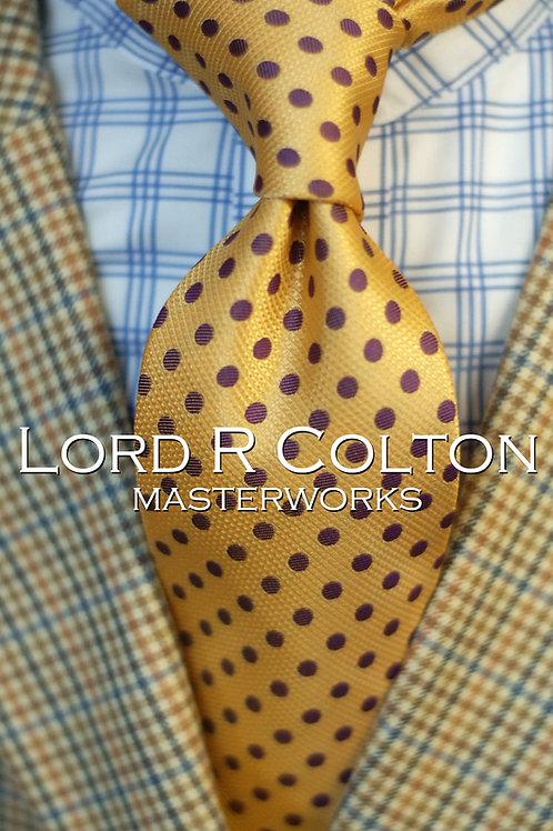 Lord R Colton Masterworks Moscow Saffron Dot Woven Necktie