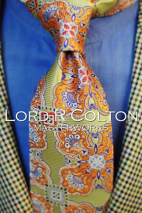 Lord R Colton Masterworks Cape Horn Citrus Woven Necktie