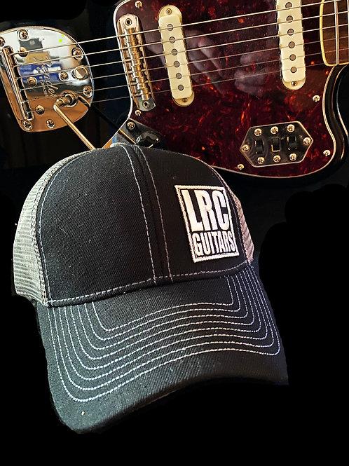 LRC Guitars Block Logo Black Gray Mesh Trucker Hat