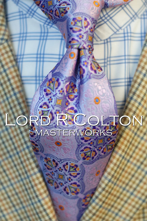 Lord R Colton Masterworks Tangier Lavender Woven Necktie