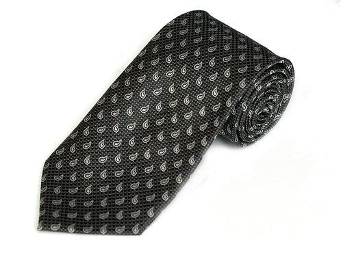 Lord R Colton Black & Gray Tear Drop Necktie
