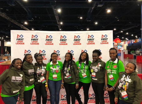 GARDEN ROBOTICS TAKE ON THE WORLD'S FIRST LEGO LEAGUE