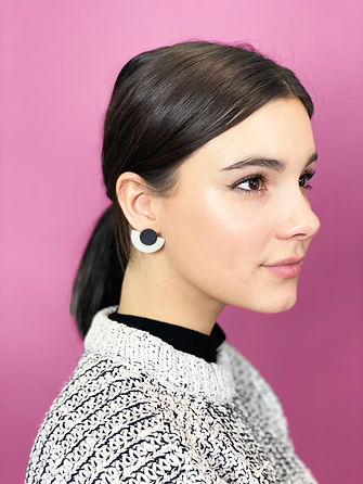 Rylie kate half moon earrings pnk bckgro
