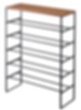 3370 天板付きシューズラック タワー 6段 BK.jpg