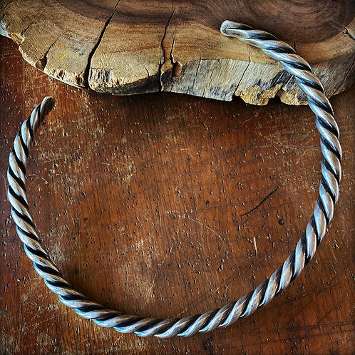Vintage Taxco Sterling Silver Rope Collar