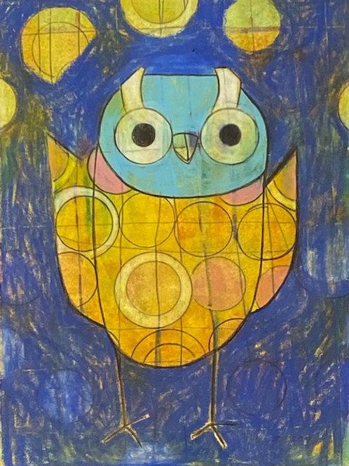 Heather Bentz • Blue Owlet - Original Artwork