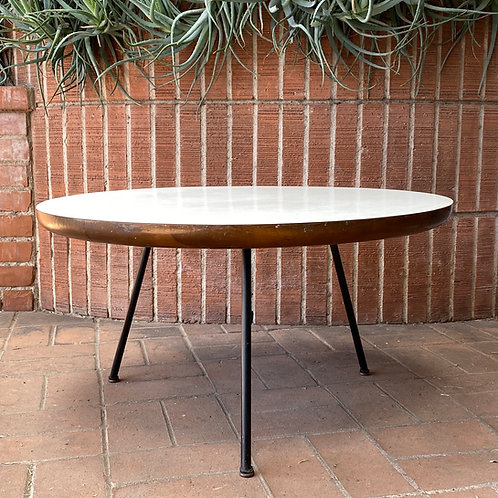 SOLD! Eames-style 3 Leg White Formica Coffee Table