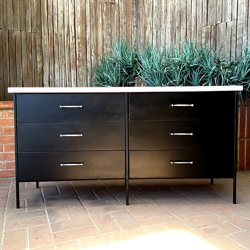 SOLD Vista of California 6-Drawer Metal + Wood Dresser, 1950s