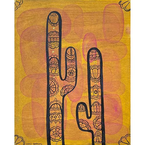 SOLD! Valerie Galloway • Desert Flowers - Original Artwork