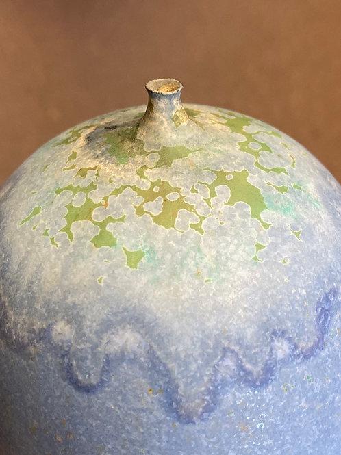 Rose Cabat 'Feelie' - Lavender Blue with Olive Crystalline, 1960s  (JC193)