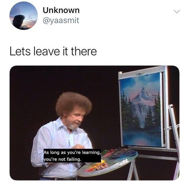 Dozens of episodes of Painting with Bob Ross are available online for anyone else who finds his style so soothing. Did y'all know he used to be a drill sergeant? Facts.