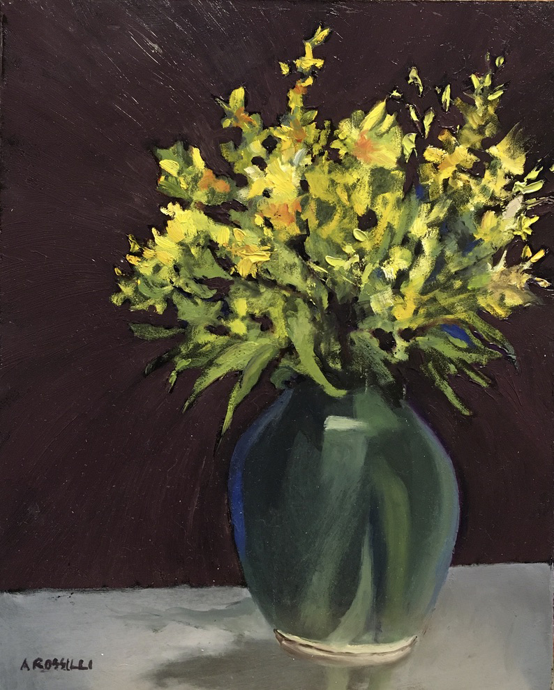 Flowers in a Vase, oil, 8x10