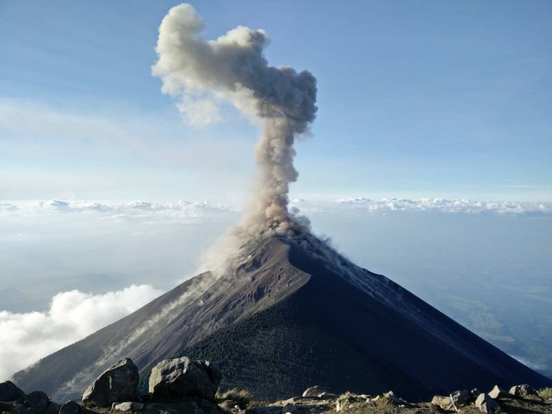 Picture of volcano to show volatility of living with someone else's addiction