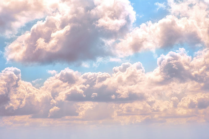 clouds to show relief at feeling grounded through flashback or anxiety
