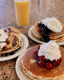 Chocolate chip, Blueberry, Cherry Pancake Special