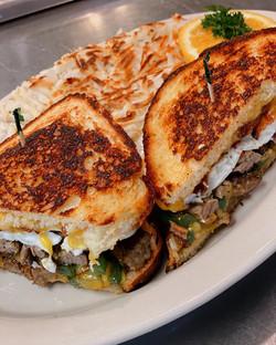 Steak Breakfast Sandwich Special