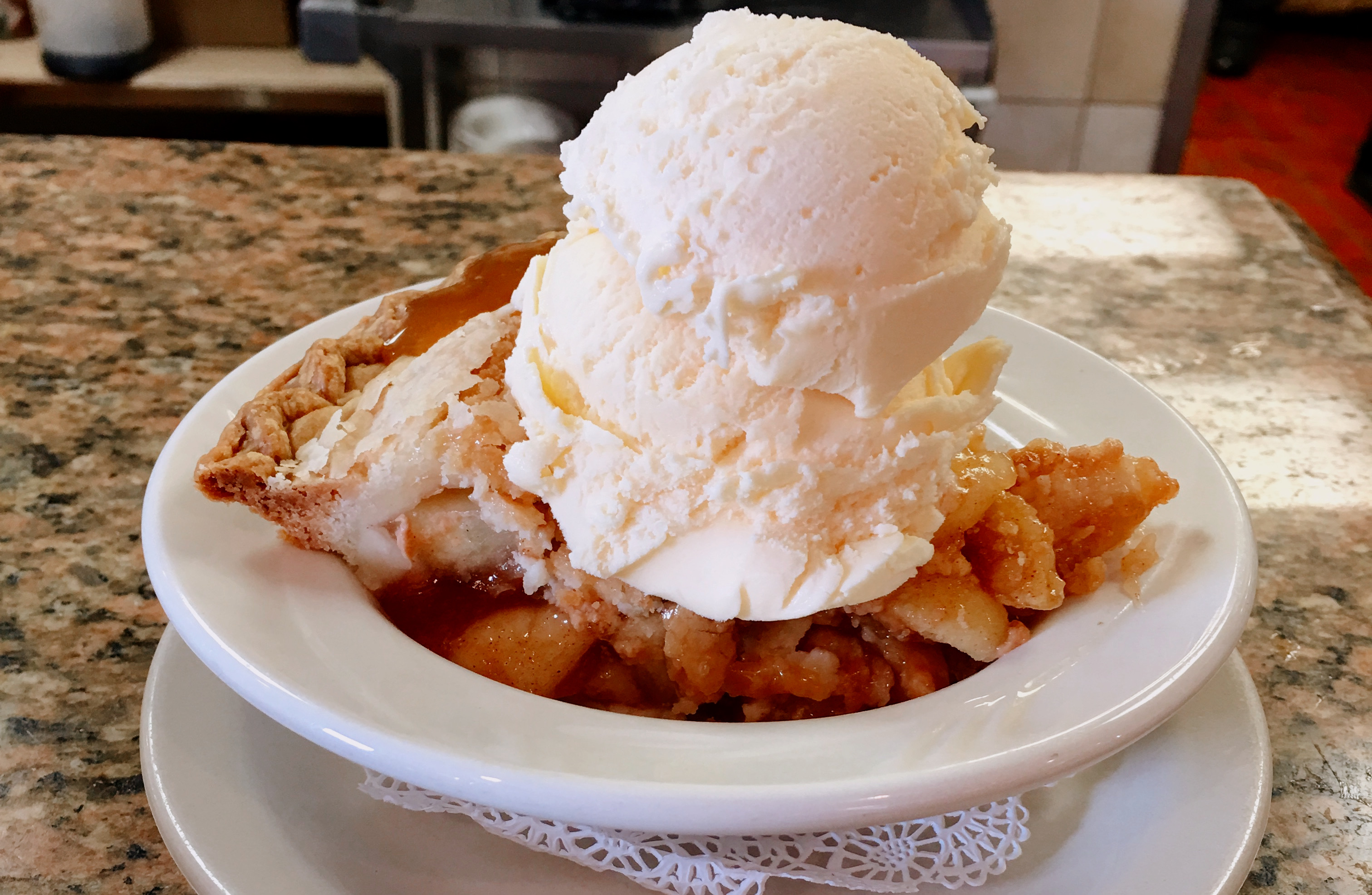 Warm Caramel Apple Pie