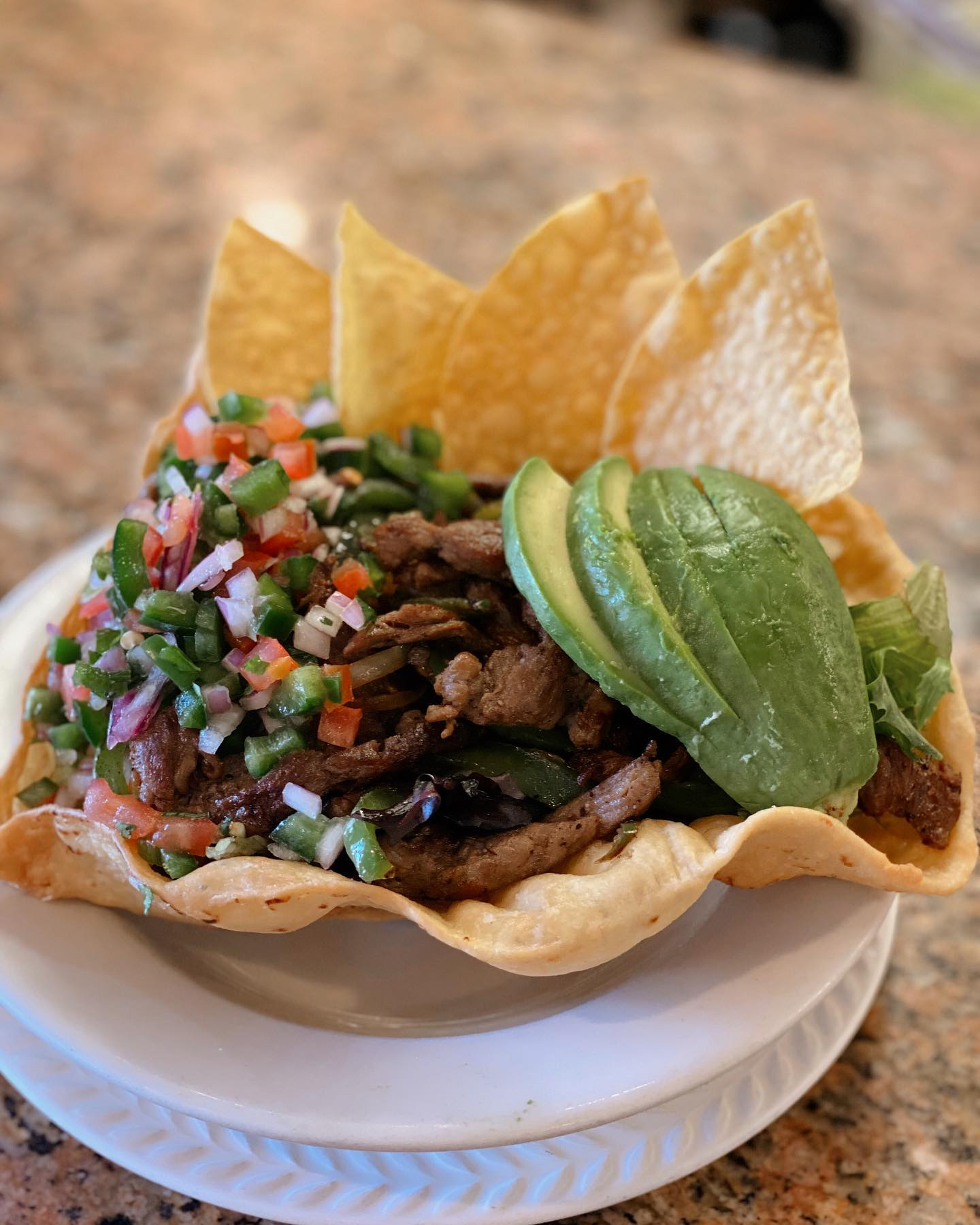Steak Fajita Taco Salad Special