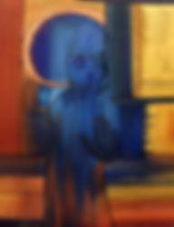 LA SENSATION DU TOUCHE  46x38 cm - huile sur toile