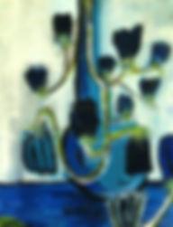 FLEURS  70x57 cm - acrylique sur bois