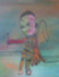 L'ANGE D'UN REVE  46x38 cm - huile sur toile