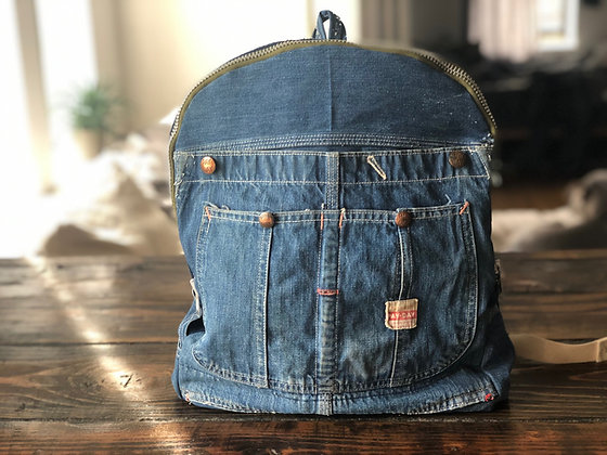 Small Denim Backpack