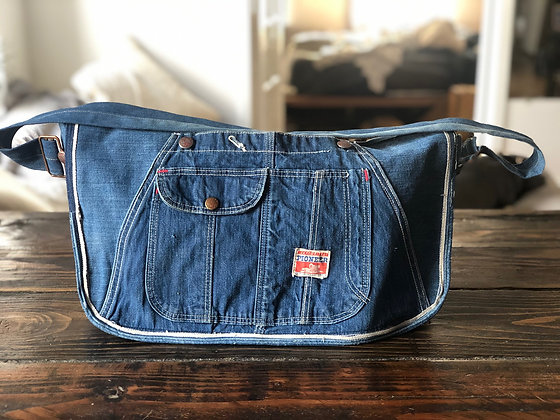 Small Denim Paperboy Sling