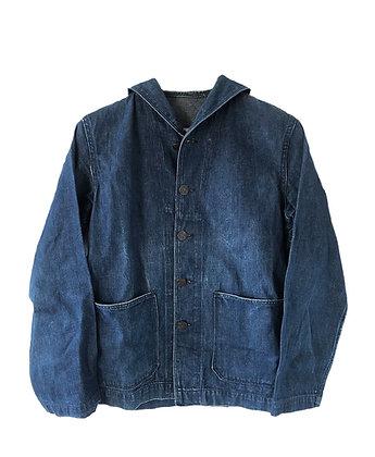 WW2 US NAVY Denim Shawl Collar Jacket