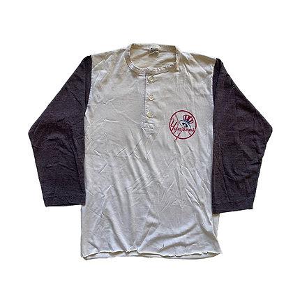 70's Champion Yankee 3/4 Sleeve T-Shirt ~Women's~