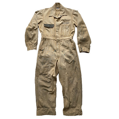 WWI US Army Stenciled Denim Coverall