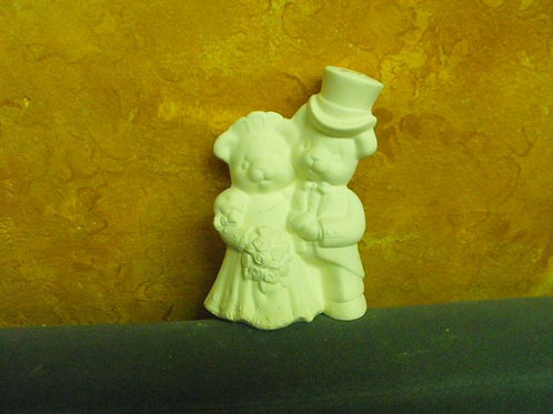 Small bear bride and groom