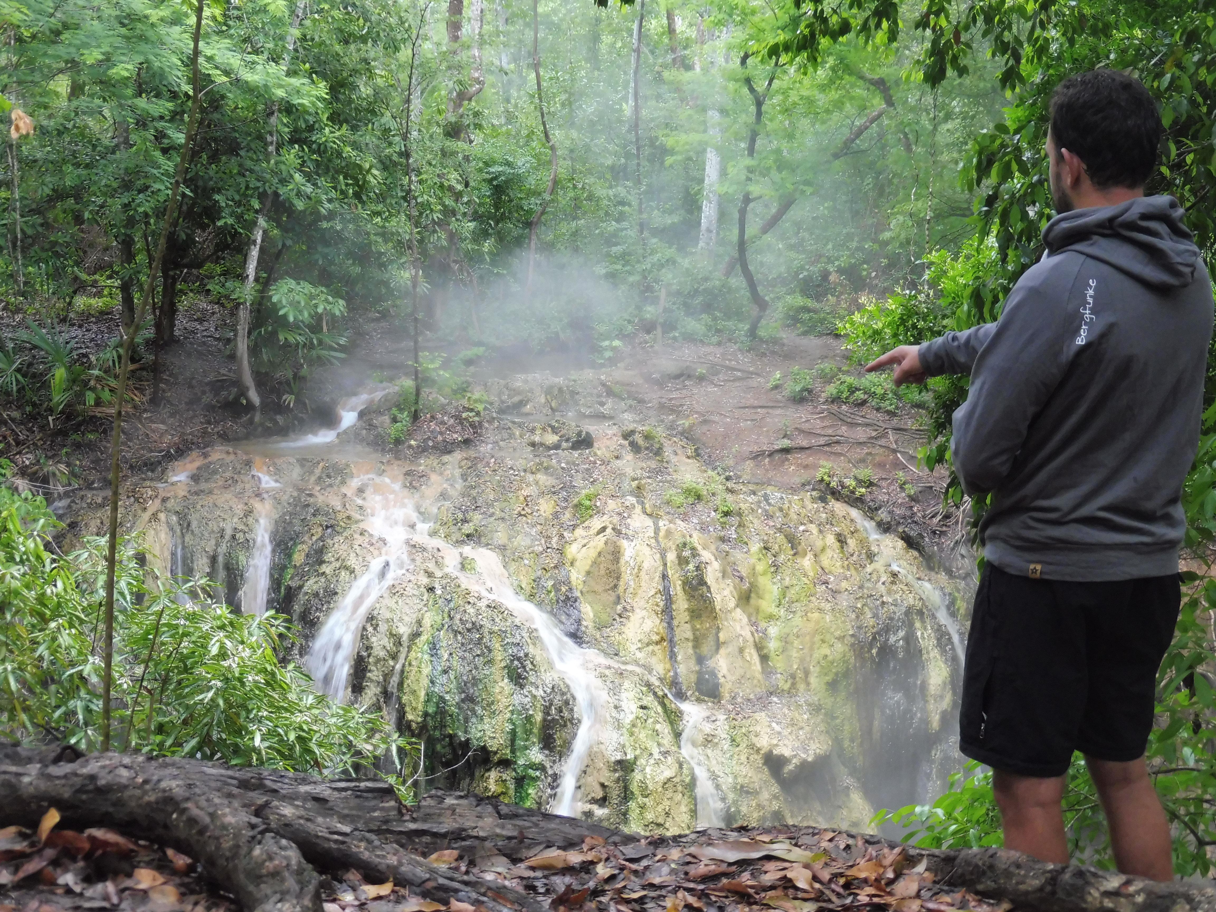 Rio Dulce - Dampfender Wasserfall 4