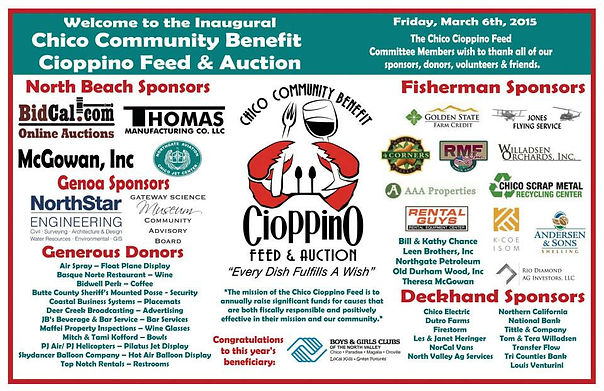 2015 Chico Cioppino Feed Sponsors