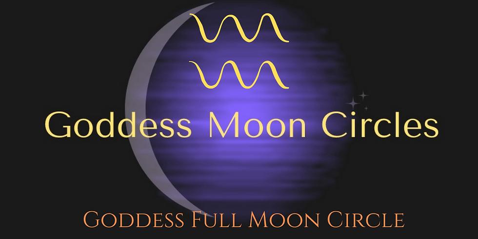 Goddess Aquarius Full Moon Circle