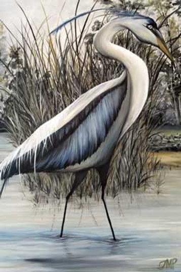 Blue Heron in Savannah River