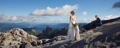 Rosie wears 'Centuria' by Hera Couture  Stunning Wanaka wedding