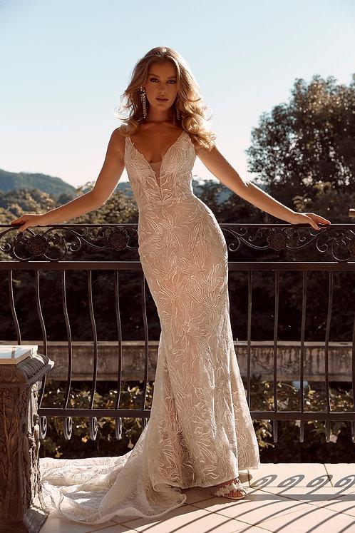 bailey madi lane bridal studio fitted lace vneck vback skirt