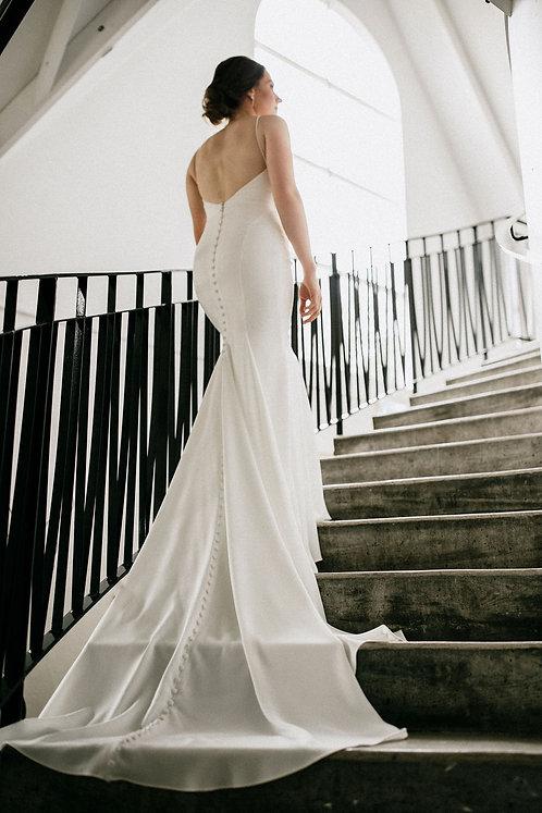 Eloise valley rose bridal studio crepe plain vneck