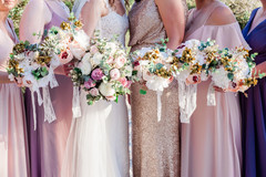 Victoria had such neat vision and allowed us to play to create these stunning bridemaids dresses  Photography by Jennifer McCue