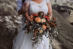 Nic wears 'Davis'  Photography by David Le Photography  Flowers by Beaukayes Hawkes Bay