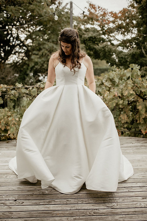 iris valley rose ball gown plain pockets bridal studio
