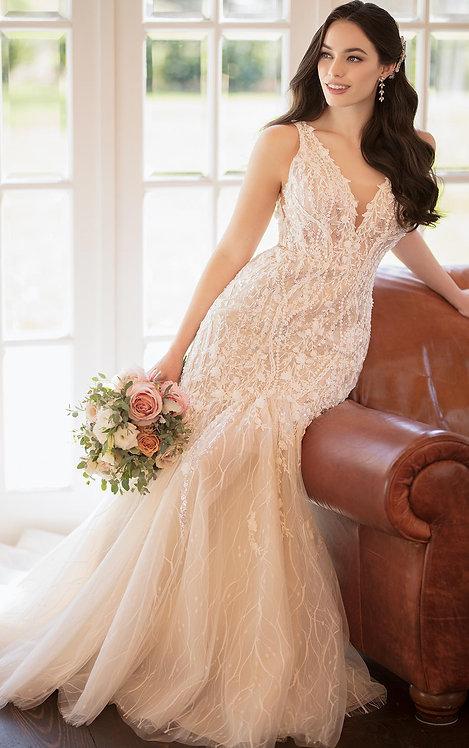 Channah Martina Liana Vneck 3d lace bridal studio