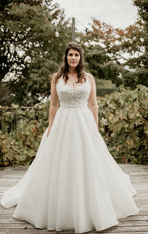 marilyn valley rose bridal studio aline ball gown beaded